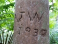 The mark of earlier visitors are a reminder of how long this park has been visited by people.
