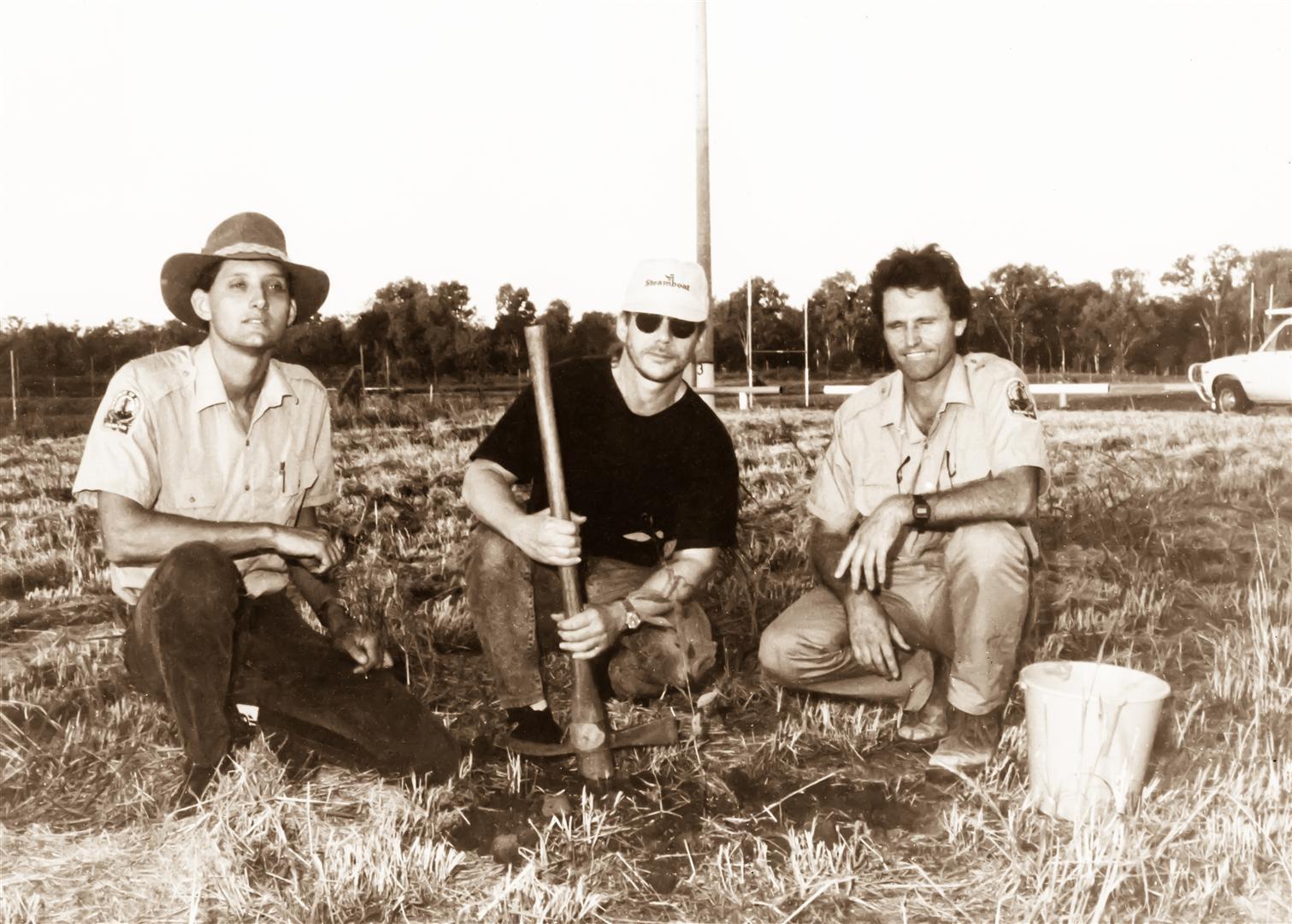 Warren Zevon with ranger Martin Ambrose (left) and (right).