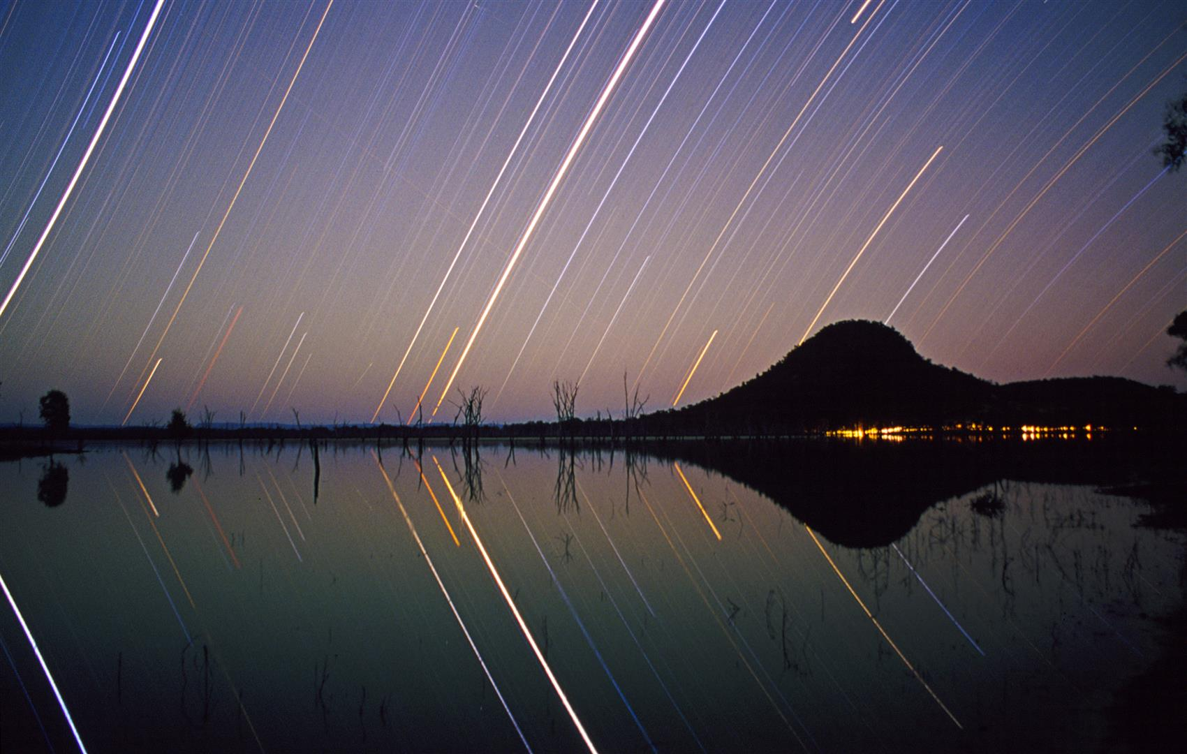 Star Trails, Lake Nuga Nuga NP.