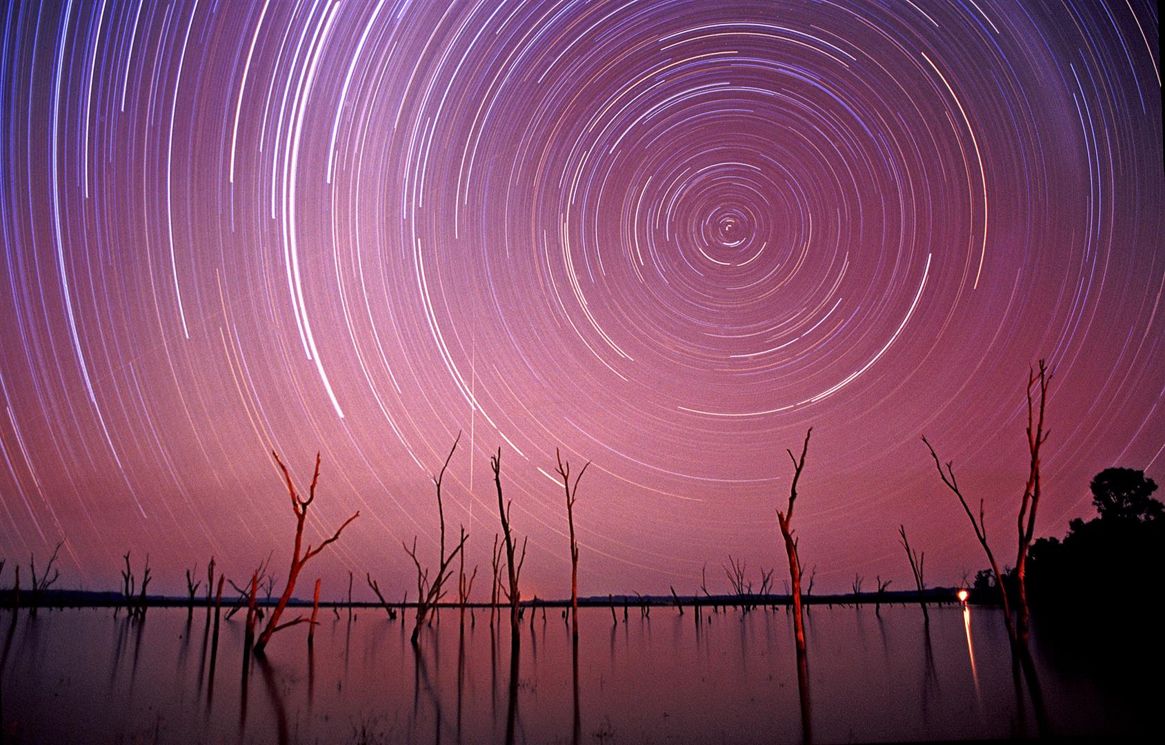 Startrails, Lake Nuga Nuga