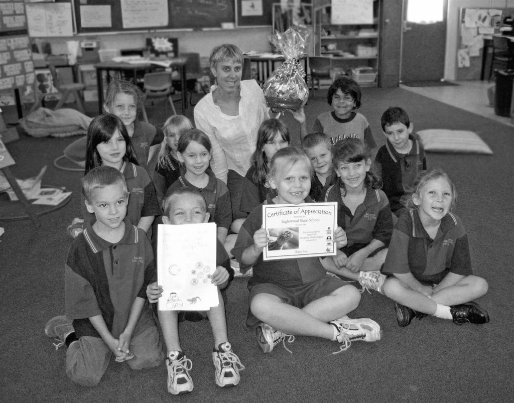 Pupils of Inglewood State School with their teacher Shona Clark-Dickson.
