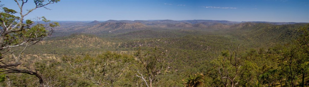 Looking north from the Consuelo Tableland.